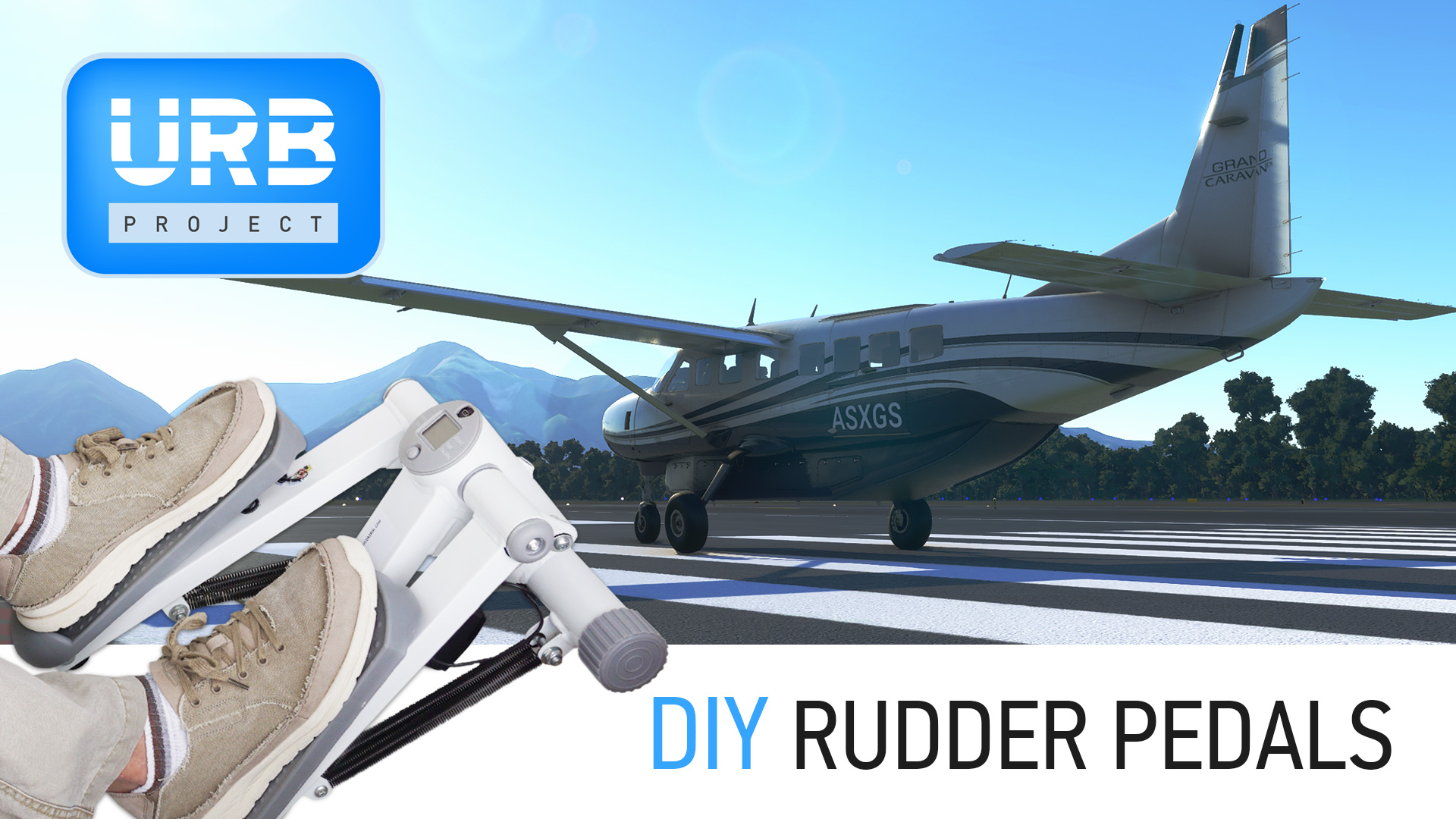 DIY Rudder Pedals for Flight Simulator